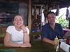 Me and Jose #1 at breakfast at the coffee plantation.<br /> breakfast included scrambled eggs and rice and beans.