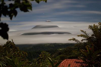 Arenal volcano at night