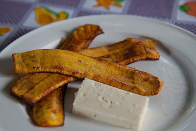 Fried Plantains and Fresh Cheese