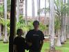 Palm garden in the convent. Granada, Nicaragua.