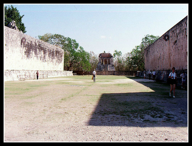 Game area, note the loop on the left hand wall. Mayans didn't need a lot of room to play with their captives.