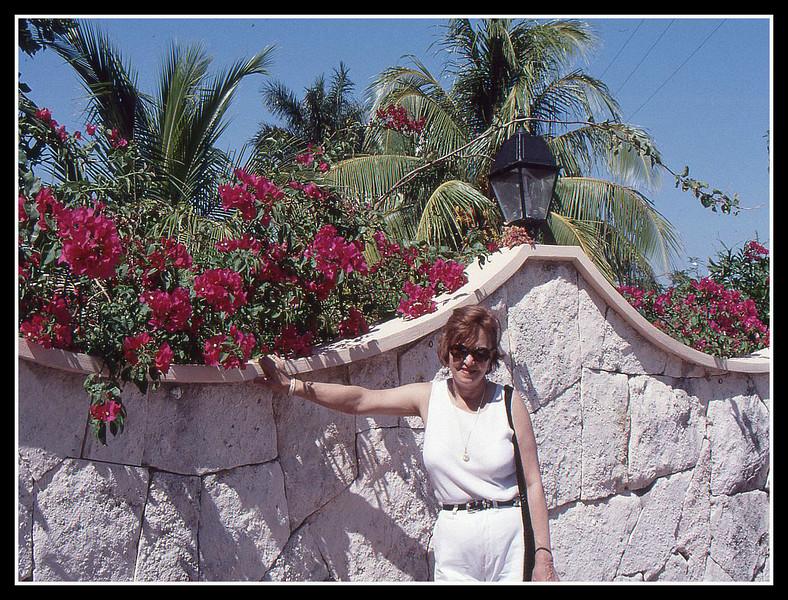 JoAnn loves flowers.