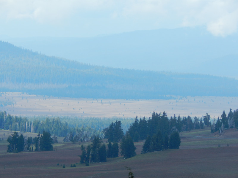 Pumice field formed after the explosion of Mt. Mazama.  Nothing will grow there.
