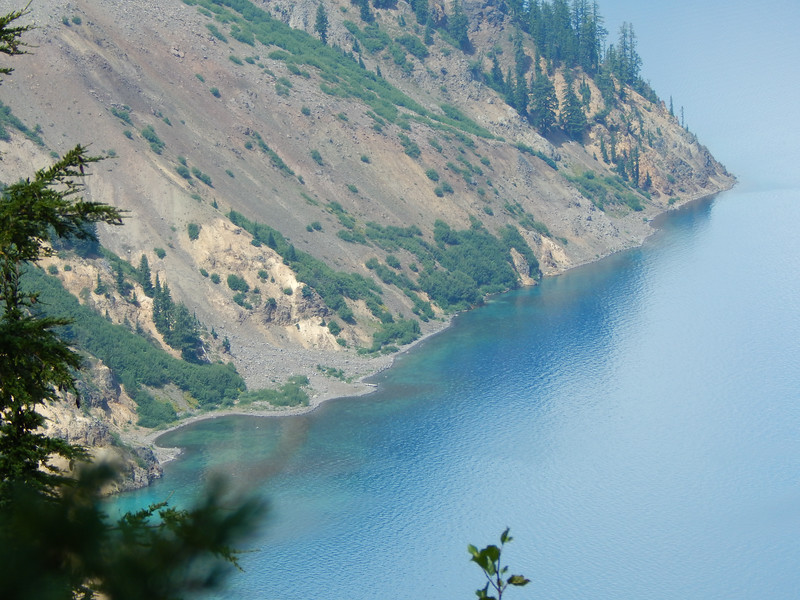 Beautiful blue waters of Crater Lake