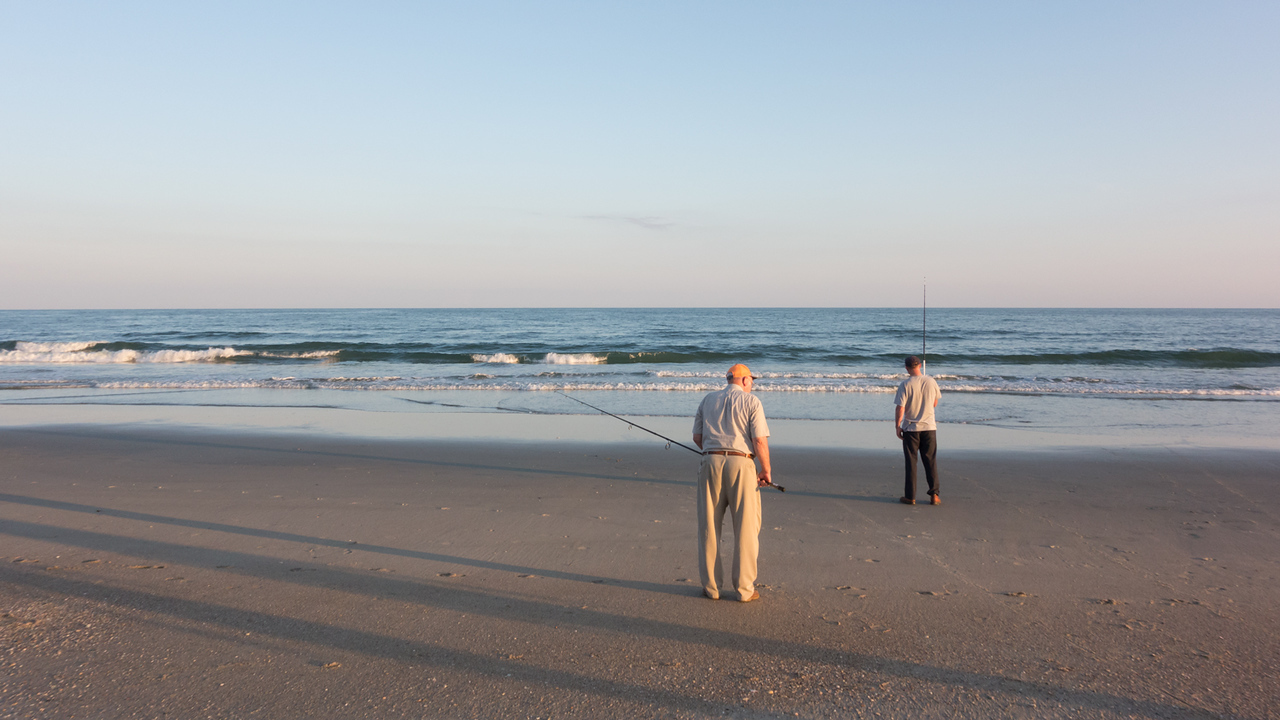 Just some other tourists fishing.