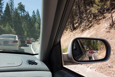 Went through Yosemite, just because we hadn't done it in a long time.  Traffic didn't  used to be like this!