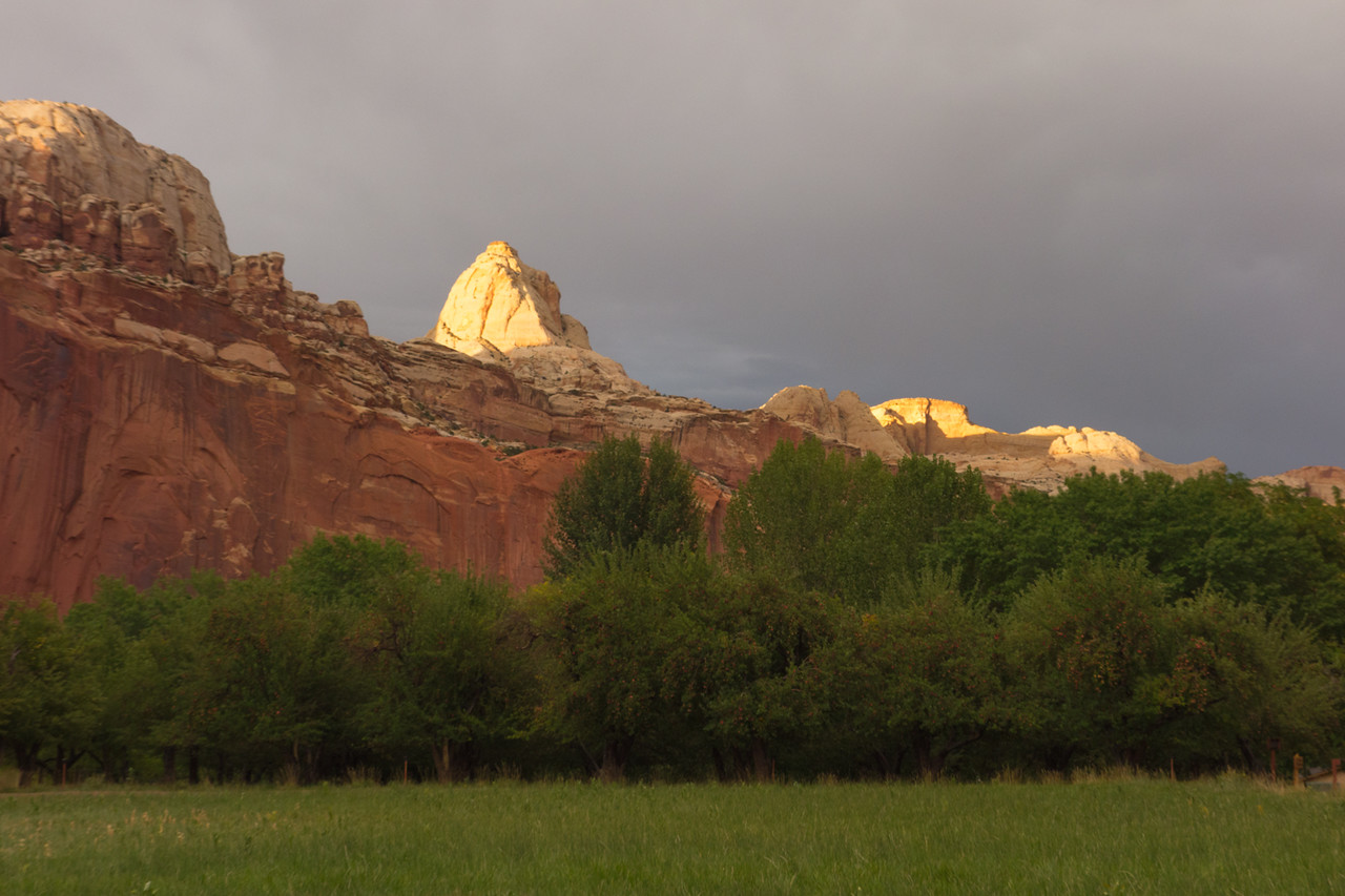 View from the campground at Capitol Reef NP.