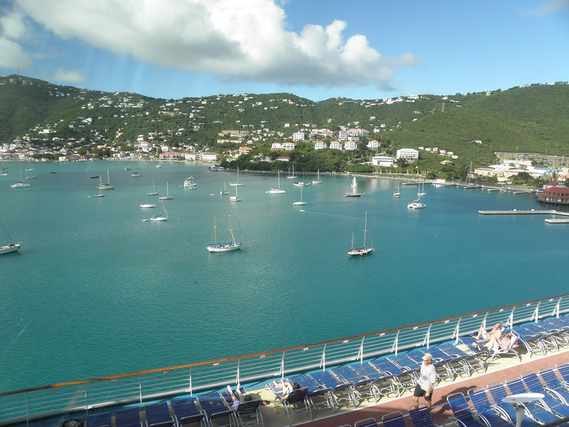 Looking towards downtown Charlotte Amalie