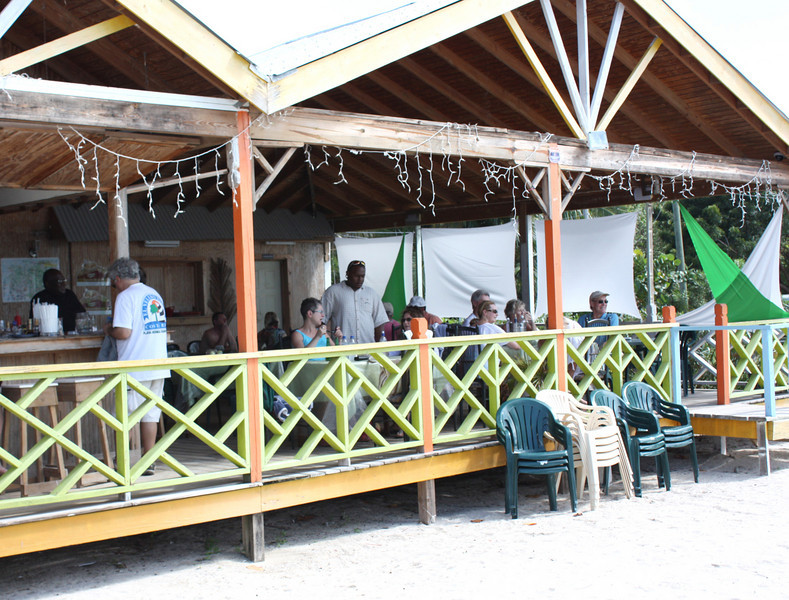 Where we had lunch on the beach at Antigua.