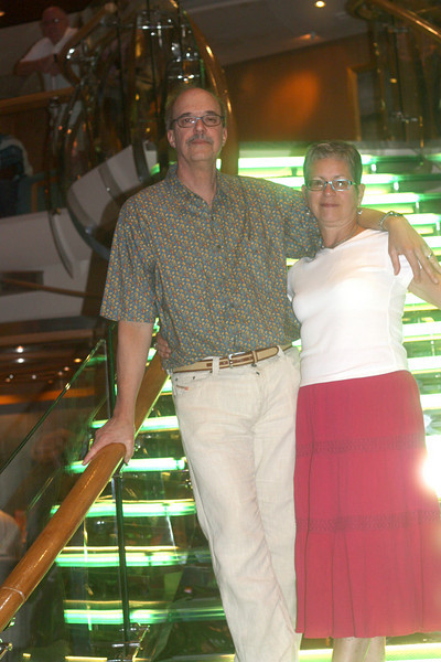 Our last day was a day at sea.  This is taken in the ship's atrium.