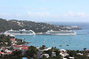 "Our ship, The Serenade of the Seas, is the one on the left.  You can see ""Blackbeard's Castle"" in the middle of the hill on this side of the harbor.  It reputedly was used by Blackbeard, back in his day."