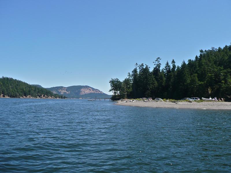 Leaving Pender for Galiano Island