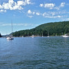 Entering Montague Harbour, Galiano Island