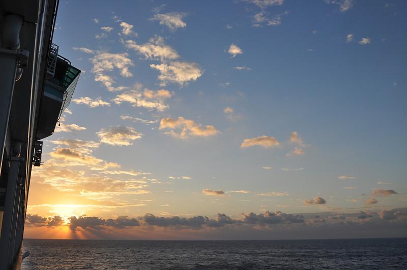 Sunrise north of Cozumel