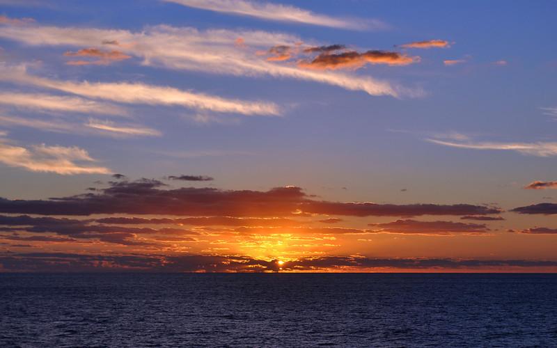 Sunrise north of Haiti