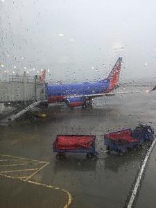 Torrential Rain from Hurricane Matthew @ Raleigh-Durham Airport