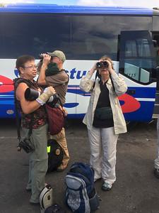 Delia, Chuck, & Laura with Bus @ Parking Lot of Havana Terminal