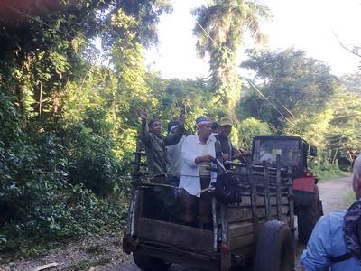 Cuban Workers on Road Outside Orquideario de Soroa
