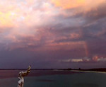 Cayo Las Bruchas with a sunset, a rainbow and a gorgeous evening