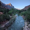 Sunrise over Zion Canyon as we climb our way out