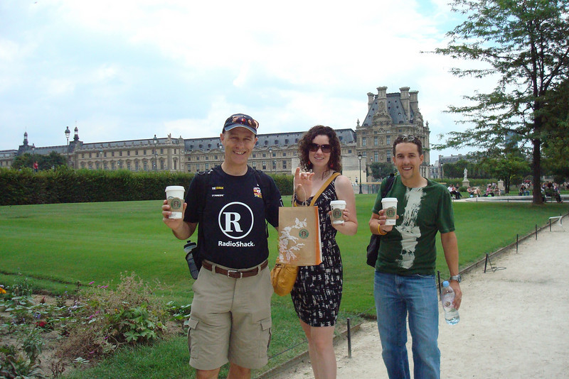 Starbucks in front of the Louvre.