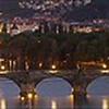 Panorama della vista classica dei ponti: peccato non poter condividere online le reali dimensioni e i dettagli ottenuti con questa vista dalla collina Letnà  Praha
