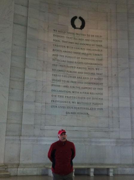 John at Jefferson memorial