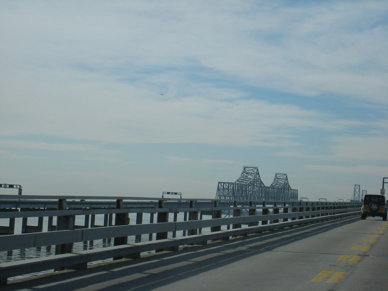 The bridge over the Chesapeake again, into Annapolis.