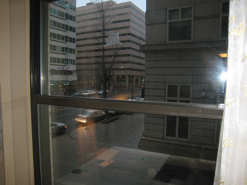 The Hamilton Crown Plaza, looking out my room
