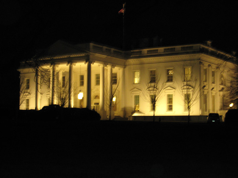 Back side of the White House