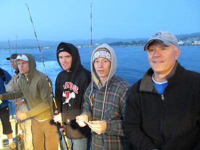 Dad & Sam Salmon fishing May 2012