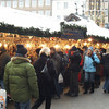 Crowds at the Christkindlesmarkt in Hauptmarkt Square, Nuremberg.