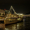 Moored on the Danube, Budapest.