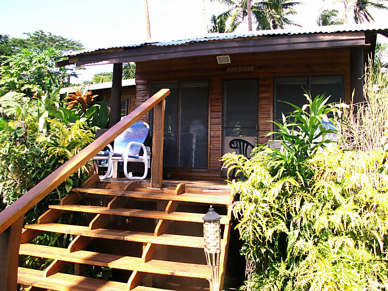 Our lanai at Makaira by the Sea in Taveuni.