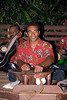 "Sireli, a Lalati staff member peforming the kava ceremony.  The procedure is: clap once when the cupbearer offers you the bowl of kava, then take it in both hands and say ""bula"" right before you drink the full contents of the bowl.  Clap 3 times after you finish!"