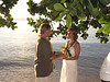 Our wish was to get married in Fiji during sunset at the waters edge.