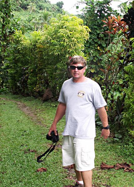 Dave on the coastal walk to Lavena Falls, in the Bouma National Heritage Park, Taveuni.