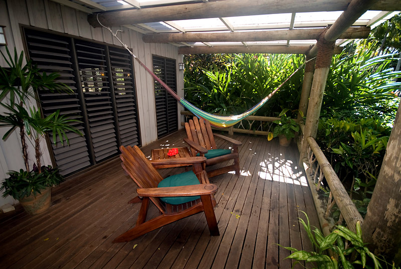 Our lanai at Lalati Resort, Beqa Island.