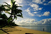 Lauray strolls down Pearl Beach in the early morning, Pacific Harbour, Viti Levu.