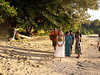 Lauray makes her way down the beach, which the staff at Makaira by the Sea swept and decorated before the wedding.  They are singing sweet Fijian songs as we prepare to get married.