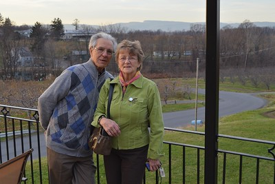 The Gunk Haus has a beatiful deck with a view of Mohonk Mountain.