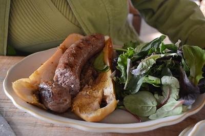 Mom's Knockwurst sandwich