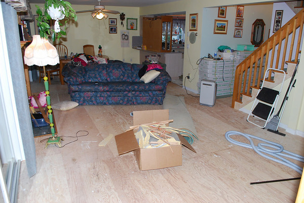 Visit to Mom and Dad's during Regional Volleyball weekend. Old rugs being replaced with hardwood floors.