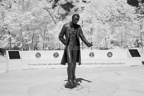 Abraham Lincoln National Cemetery WIlmington Illinois Infrared