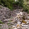 Sur les bords de l'Ain, ruines du château d'Oliferne - Jura - France