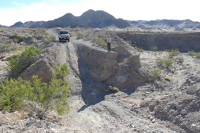 BFR (Big Ravine) in Death Valley. It was way steeper than it looks in the photo so we turned around here.  11-07-2017