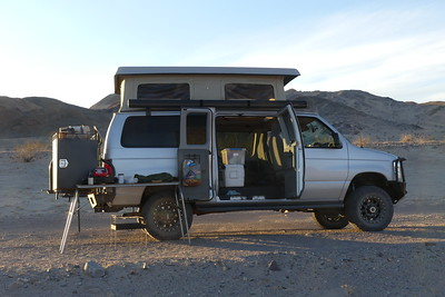 This is our typical camp site setup.  Death Valley 11-06-2017.