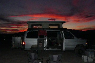 Sunset at Tecopa Hot Springs.  We enjoyed a nice soak in the hot springs at the campground there.  11-08-2017
