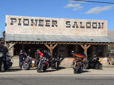 Pioneer Saloon - Joe picked me up at the Las Vegas airport on 11-05-2017, and took me to this cool historic saloon in Greensprings, about 30 miles away.  They had live music, too.   Photo by Sherry