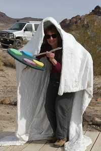 Rhyolite with Sherry as the painter, 11-08-2017